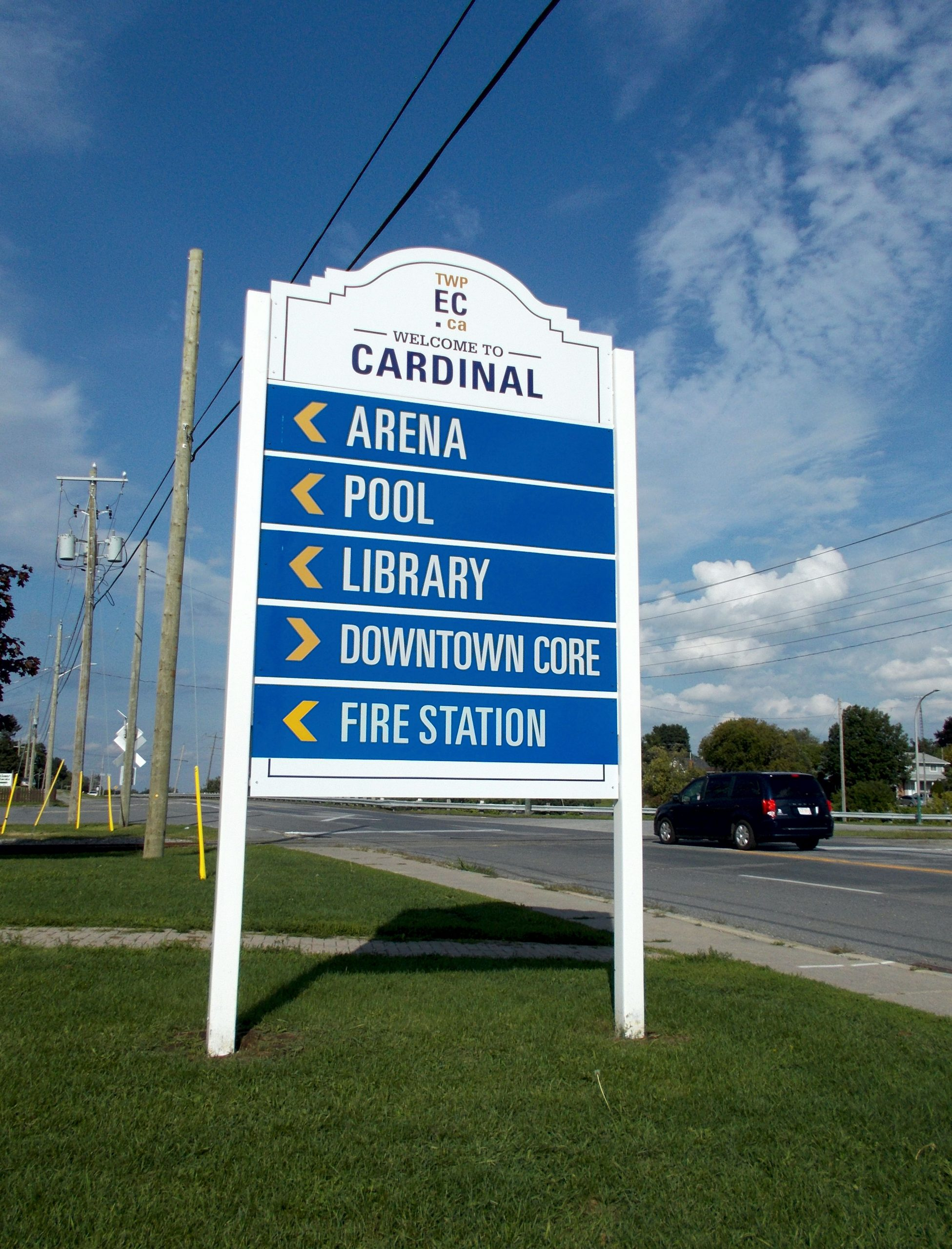 cardinal directional sign